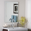 Modern Frameless V Groove Wall Mirror Ssm1125 Dcg Stores
