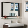 New Amsterdam Framed Mirror with Shelf - DWM-SSM143