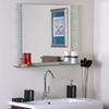 Super Modern Etched Wall Mirror with Shelf - DWM-SSM152