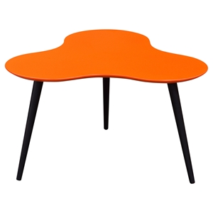 Beacon Cocktail Table - High Gloss Orange Top