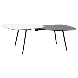 Bistro Two Tiers Cocktail Table - Gray and White