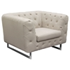 Catalina Button Tufted Sofa and Chair - Sand Fabric - DS-CATALINASCSA