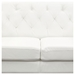 Chelsea Leatherette Loveseat - Tufted, White - DS-CHELSEALOWH