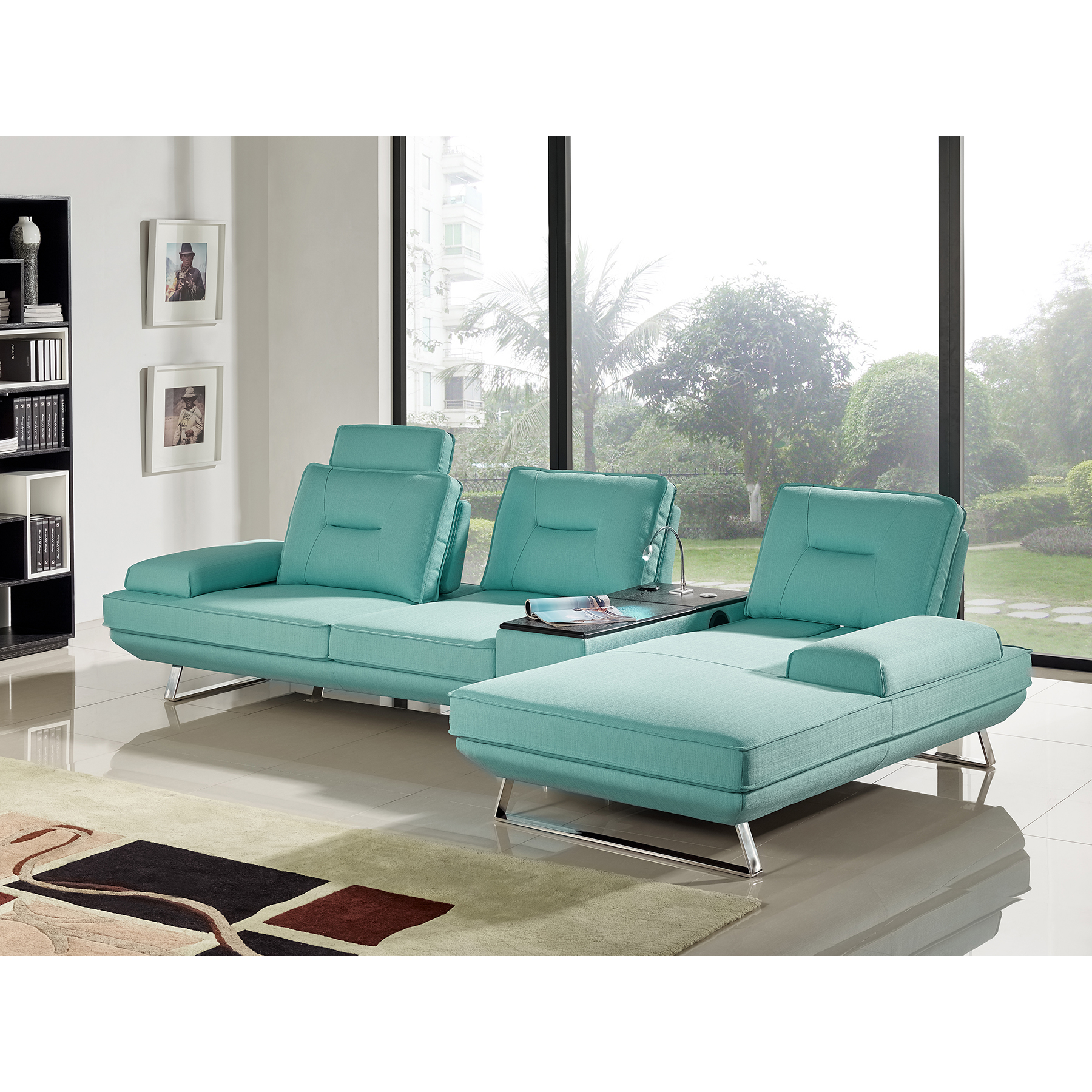 seafoam green sofa