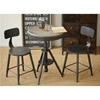Douglas Adjustable Height Bistro Table - Weathered Gray, Black - DS-DOUGLASBTBL