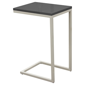 Edge Rectangular Accent Table - Gray