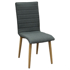 Element Dining Chair - Graphite Gray Fabric (Set of 2)