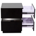 Elle 2 Drawers Accent Table - High Gloss Black - DS-ELLENSBL