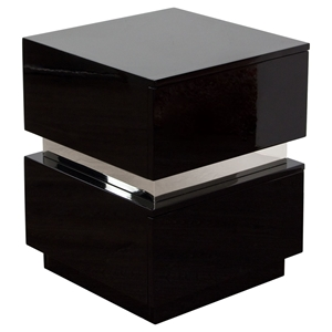 Elle 2 Drawers Accent Table - High Gloss Black