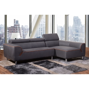 Impulse 2-Piece Sectional with Right Arm Facing Chaise - Gray Fabric