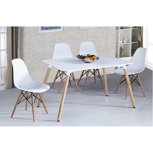 Ion 5 Pieces Extension Dining Set - White