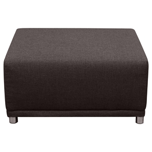 Moderna Square Ottoman - Chocolate