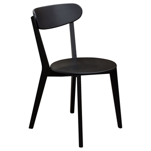 Noire Dining Chair - Black (Set of 2)