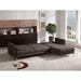 Opus Convertible Sectional - Right Arm Facing Chaise, Tufted, Chocolate - DS-OPUSRFSECTCH