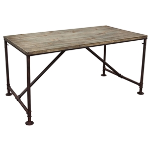 Portland Vintage Rectangular Dining Table - Weathered Gray