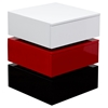 Spark Accent Table - 2 Drawers, White, Red, Black - DS-SPARKNSRE