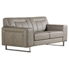 Vera 3 Pieces Leatherette Sofa Set - Chrome, Sandstone - DS-VERASLCSS