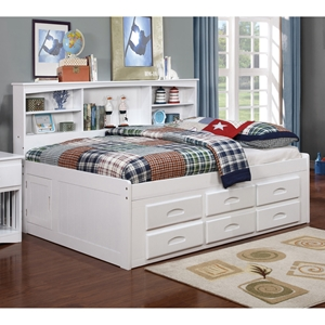 Bookcase Daybed - White