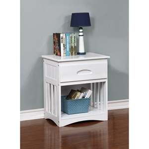 1-Drawer Night Stand - White