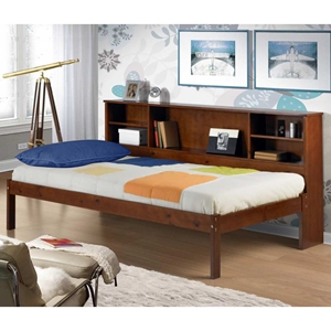 Cherokee Side Bookcase Storage Bed - Light Espresso