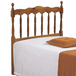 Annalise Spindle Headboard - Scalloped Rail, Honey
