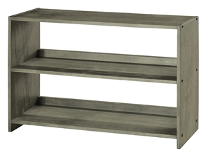 Louver Bookcase - Antique Gray