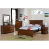 Galway Shaker Full Panel Bed - Crown Molding, Harvest Brown - DONC-B253FG