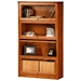 Classic Oak Promo 4-Tier Lawyer Bookcase - Glass Doors - EGL-05334