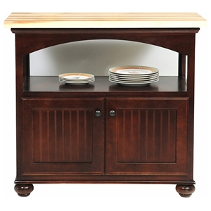 "American Premiere 40"" Kitchen Island - Bun Feet, Block Top"