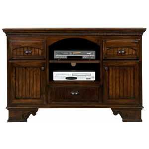 "American Premiere 58"" Media Console - 2 Shelves, 3 Drawers"
