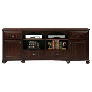 American Premiere 4-Drawer TV Cabinet - Bead Board Bun Feet