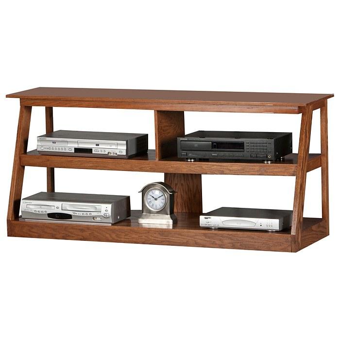 Adler 55 Oak Wood Tv Stand Open Back Egl