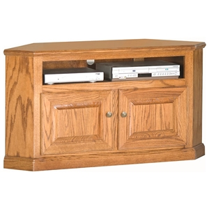 "Classic Oak 50"" Corner TV Cabinet - 1 Shelf, 2 Doors"