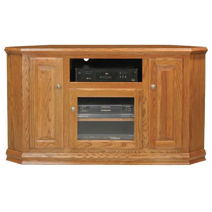 Classic Oak 56 Quot Tall Corner Tv Cabinet 1 Open Shelf 3 Doors Dcg Stores