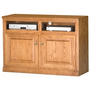 "Classic Oak 45"" TV Cabinet - 2 Shelves, 2 Doors"