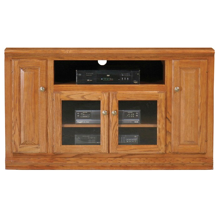 Classic Oak Thin 55 Quot Tv Cabinet 1 Open Shelf 2 Glass