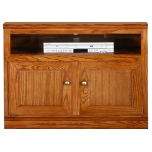 "Heritage 39"" TV Cabinet - Bead Board, Oak Wood"