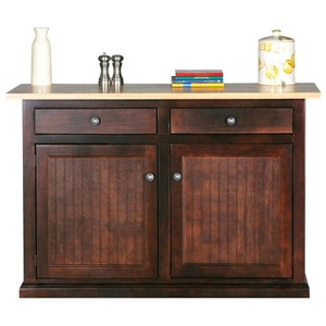 Coastal 2-Drawer Kitchen Island - Bead Board Doors