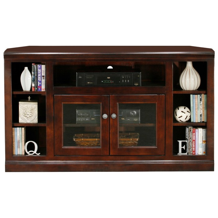Coastal Thin 55 Corner Tv Cabinet 2 Gl Doors Egl