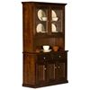 Coastal 3-Door Buffet Table & Hutch - 2 Glass Panels - EGL-CSTL-BH-3W2G