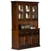 Coastal 3-Door Buffet Table & Hutch - 3 Glass Panels - EGL-CSTL-BH-3W3G