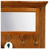 Oak Ridge Hall Tree - Storage Bench, Mirror, Coat Hooks, Fluting - EGL-93416-93417