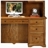 Oak Ridge Double Pedestal Desk & Hutch - Raised Panels - EGL-93457-93207