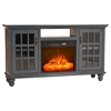 "65"" Modern Country Electric Fireplace TV Console - 2 Doors - EGL-FP371765"