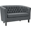 Prospect Upholstered Fabric Loveseat - Button Tufted, Espresso Legs - EEI-2614-LS