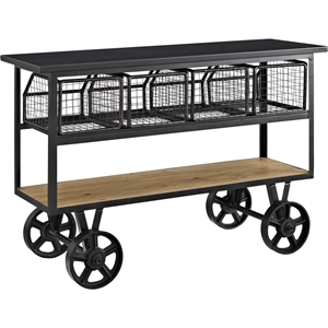 Fairground Serving Stand - Brown, Black