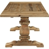 Rise Extendable Wood Dining Table - Brown - EEI-2650-BRN-SET