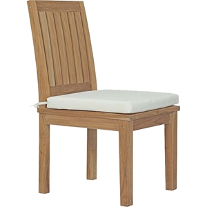 Marina Outdoor Patio Dining Chair - Natural, White
