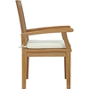 Marina Outdoor Patio Dining Armchair - Natural, White - EEI-2701-NAT-WHI