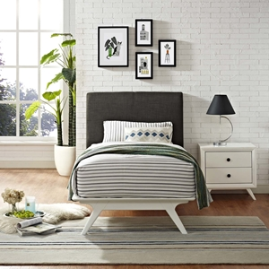 Tracy 2-Piece Twin Platform Bedroom Set - White Frame